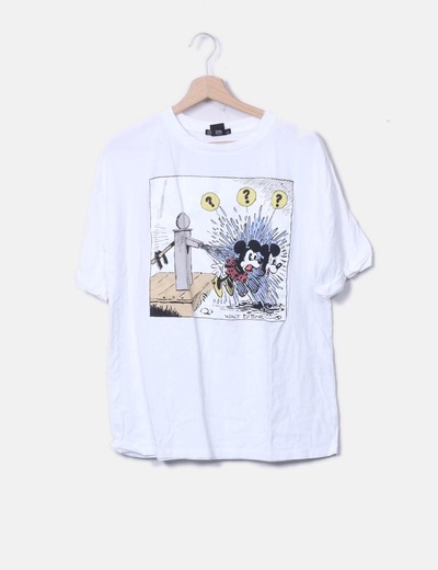 Camiseta blanca print oversize