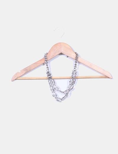 Collar envejecido cadena plateada aïta
