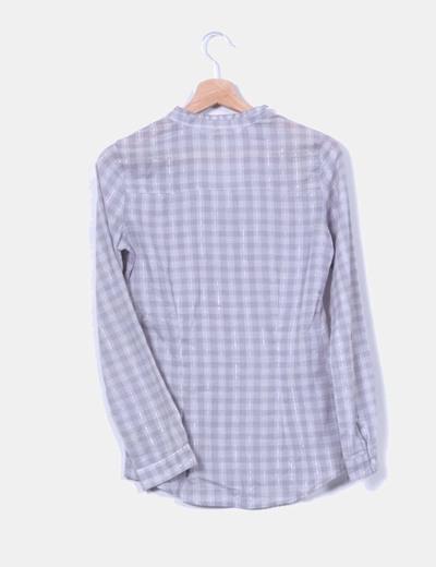 Camisa cuadros gris