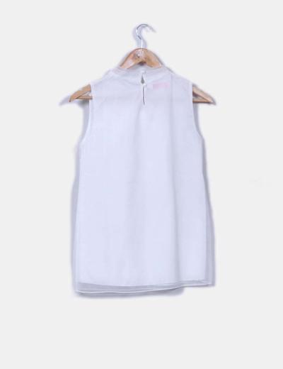 Blusa lazo blanca