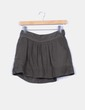 Mini falda khaki de lino Bershka