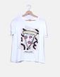 T-shirt blanc imprimé pizza Zara