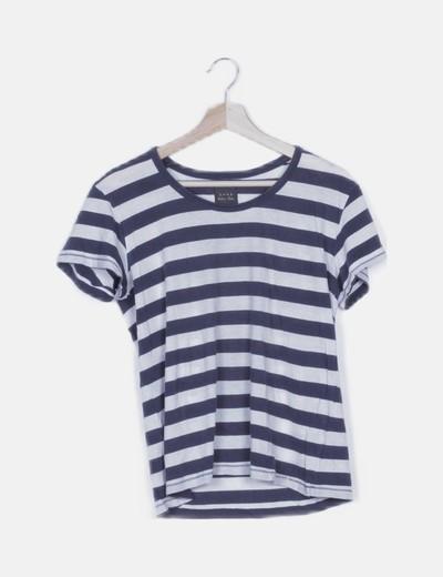 Camiseta rayas bicolor