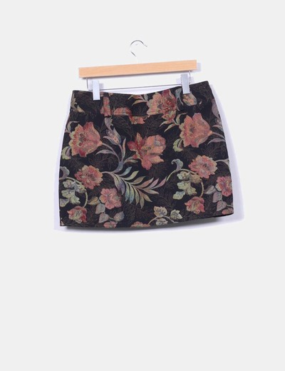 Mini falda print floral