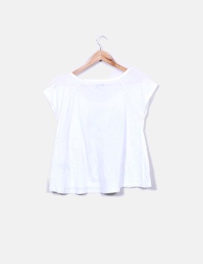 3a62310bb Bershka Camiseta blanca print perro (descuento 78%) - Micolet