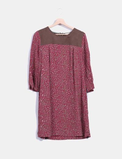 Vestido mini print combinado Cortefiel