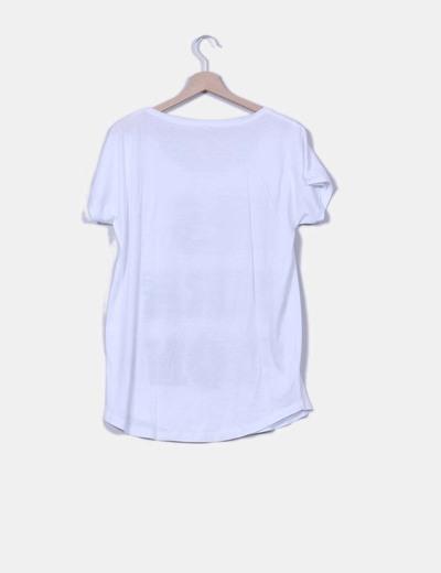Camiseta oversize blanca print tachas