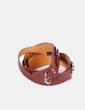 Cinturón marrón trenzado detalle hebilla Mango