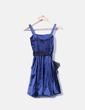 Robe bleue de satin Cerezas