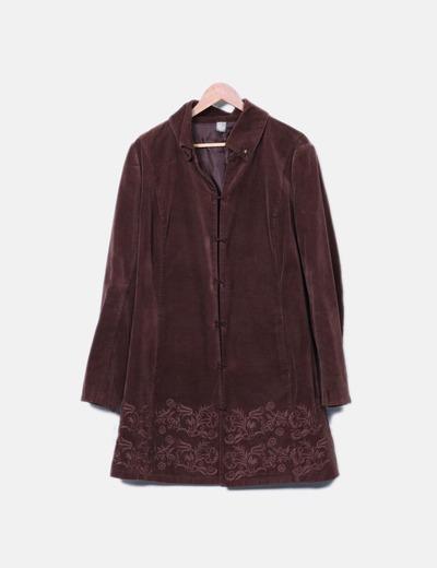 Abrigo de pana marrón MOMU