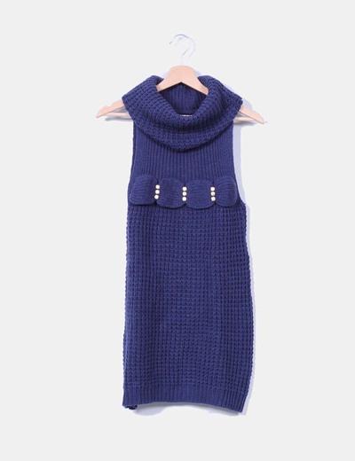 Jersey azul marino con tachas sin mangas NoName
