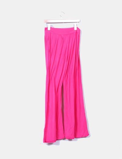 Pantalon rosa fluido