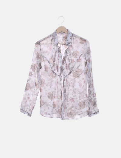Camisa cruda estampado floral