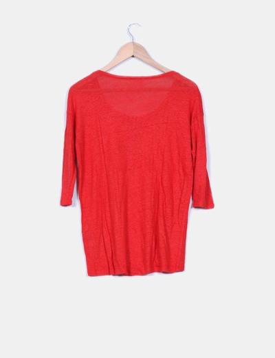 Sueter tricot rojo