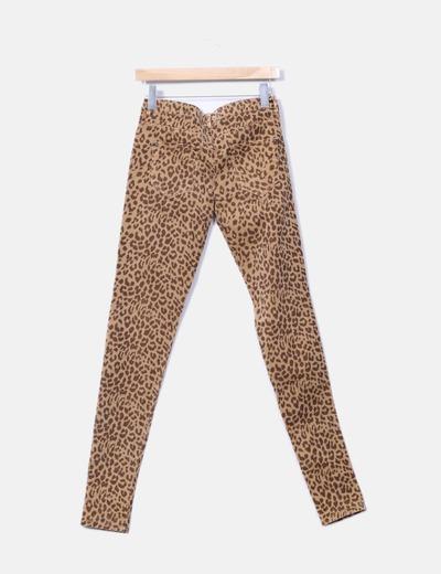 Pantalon pitillo animal print