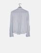 Blusa blanca detalle escote Bershka
