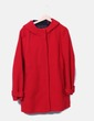 Abrigo largo rojo Zara