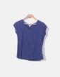 Camiseta azul manga corta Springfield