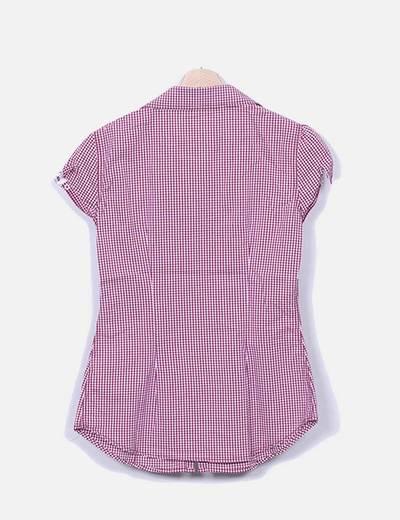 3ac274b4a0 Stradivarius Camisa de cuadros rosa manga corta (descuento 87%) - Micolet