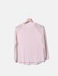 Jersey tricot rosa palo con mangas transparentes Uterqüe