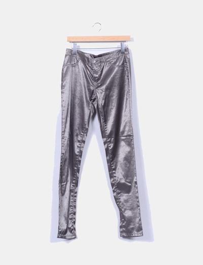 Pantalon gris irisado cigarette Vero Moda