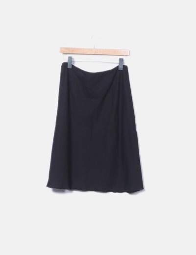 042be6c6414cb Lefties Falda negra lisa (descuento 72%) - Micolet