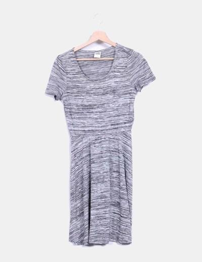 Vestido gris jaspeado Vero Moda