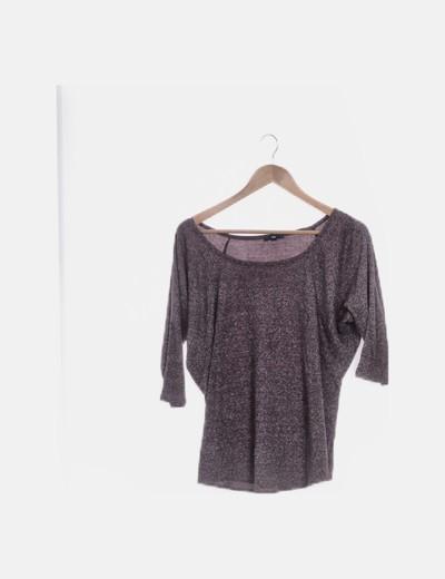 Camiseta tricot granate jaspeada