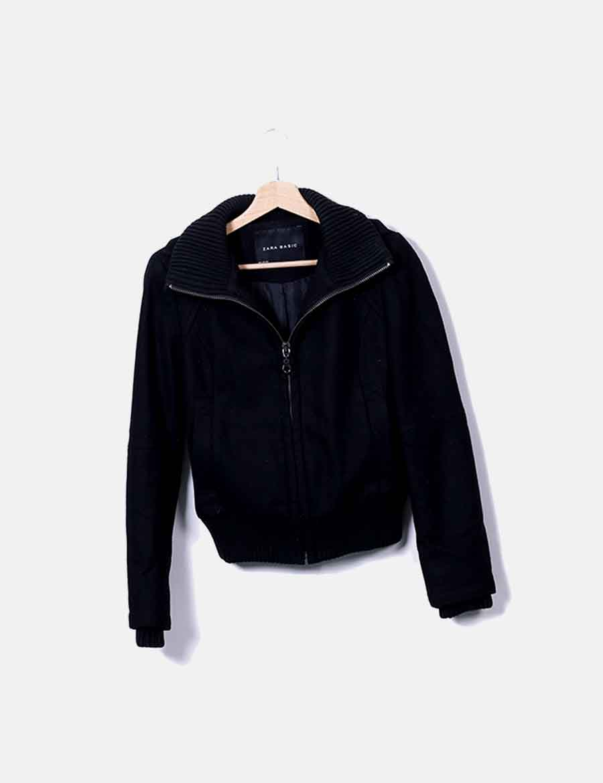 Chaquetas Y Abrigos Paño Chaqueta Online Mujer Baratos De Negro Zara qAgBwS