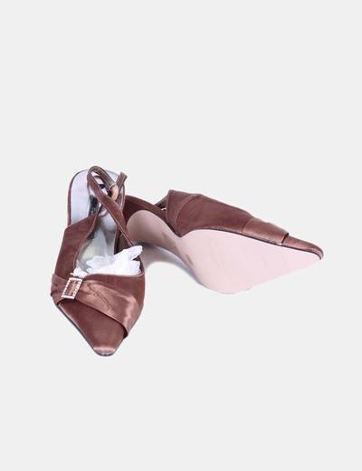 Zapato destalonado bronce