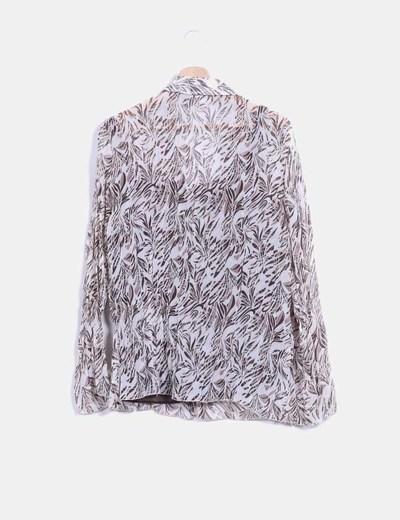 Blusa bicolor con estampado