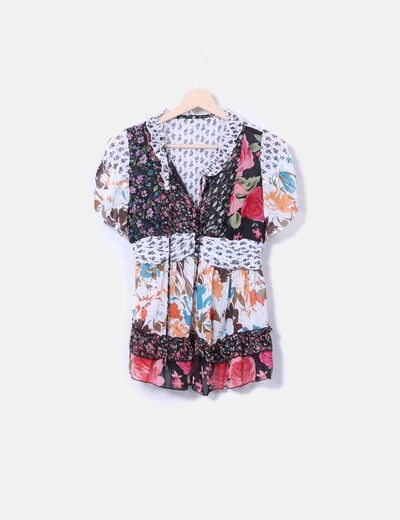 Blusa estampado multicolor