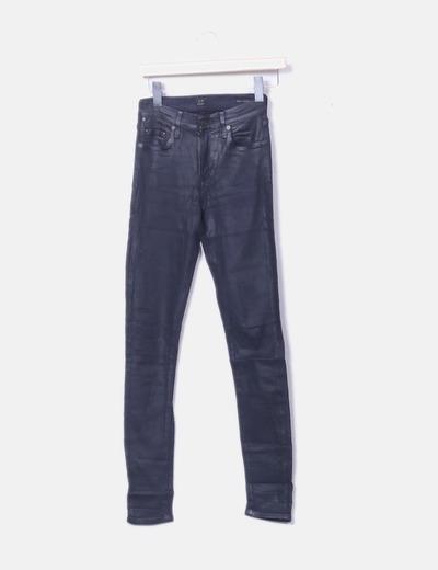 Jeans azul coated