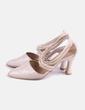 Zapato beige tiras Pilar Burgos