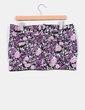 Mini falda abombada print floral en morado Lefties