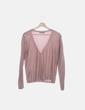 Cardigan de punto rosa glitter Zara