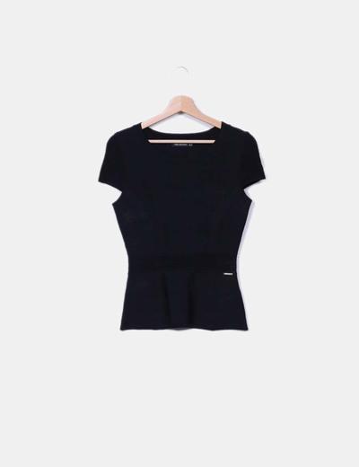 Top noir tricot Pedro del Hierro