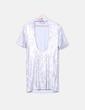 Vestido paillettes plata irisados H&M
