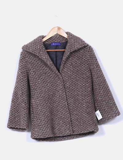 Chaqueta de lana taupé texturizada Jorge-Juan