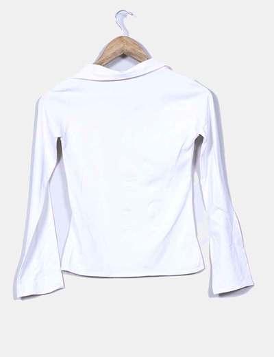 Top elastico blanco manga larga