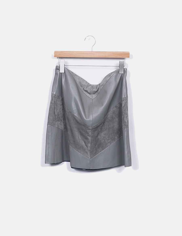 aad1fd96478 gris online Zara baratas antelina Falda y Faldas polipiel BcHqTP4 ...
