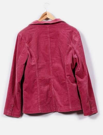 Blazer de pana rosa