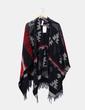 Manteau en laine ethnique avec franges Bershka