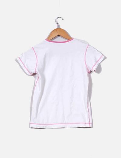 Top basico blanco y rosa