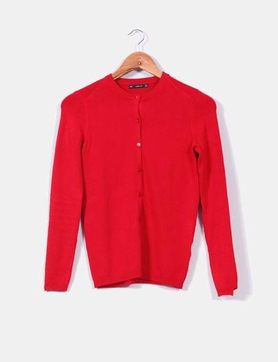 Veste Boutons Micolet Rouge Zara réduction 85 De 4qvF4wd