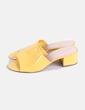 Zuecos amarillos Forever 21