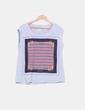 Camiseta gris print navy Sfera