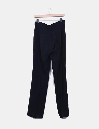 Pantalon vestir recto negro