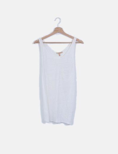 Camiseta tricot blanco