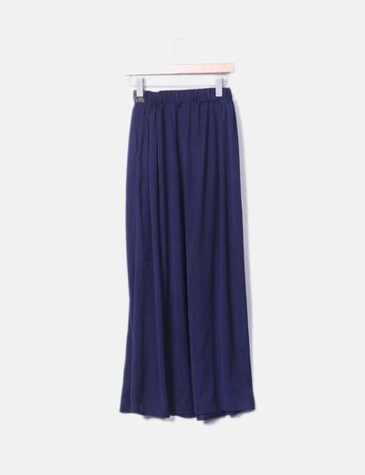 447e404dc Maxi falda azul marino con abalorios
